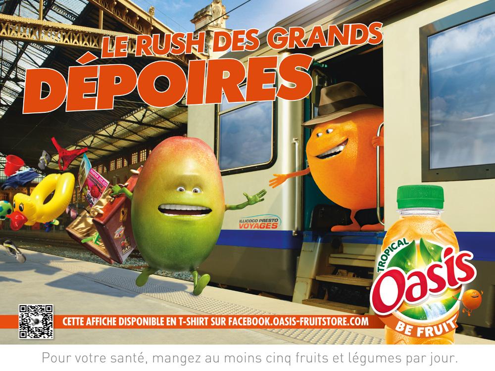 Affiche Oasis Gare