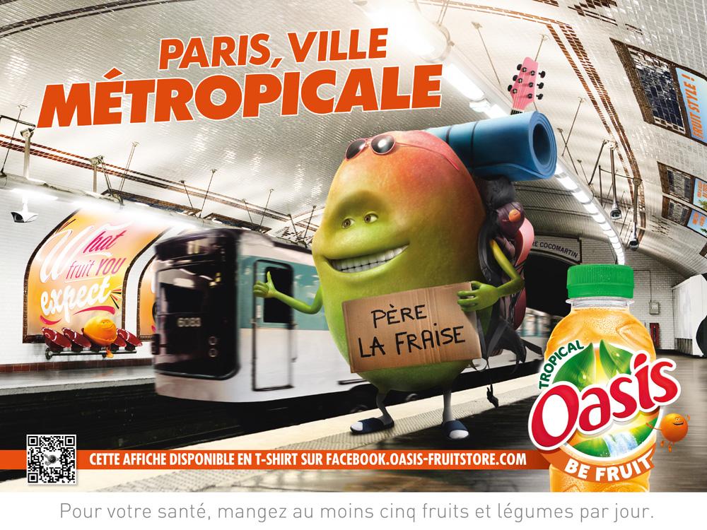 Affiche Oasis Métro