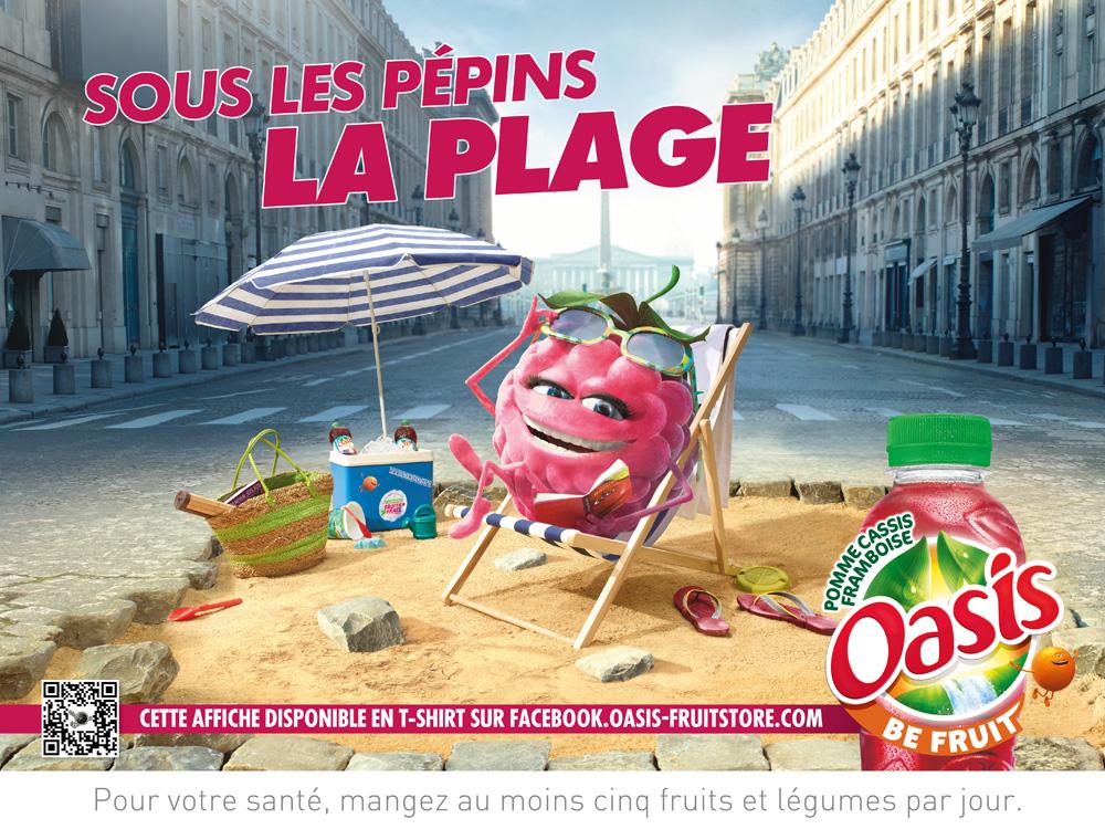 Affiche Oasis Plage