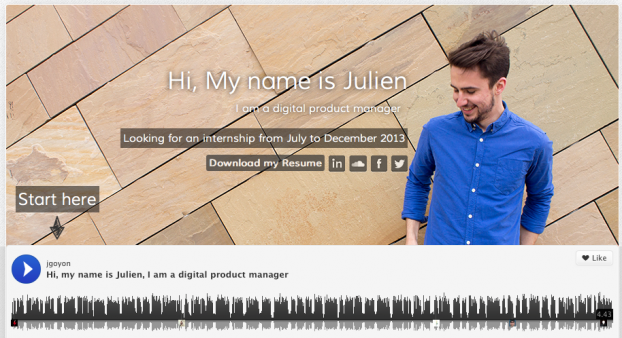 cv original   julien goyon utilise l u0026 39 api de soundclound