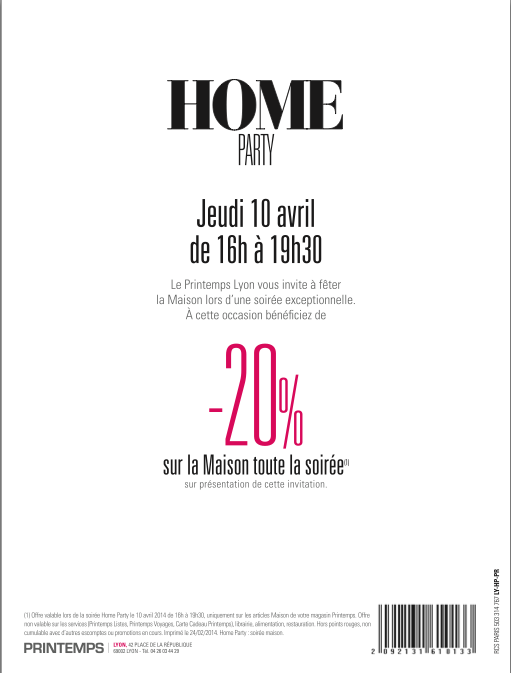 Invitation Home Party Printemps
