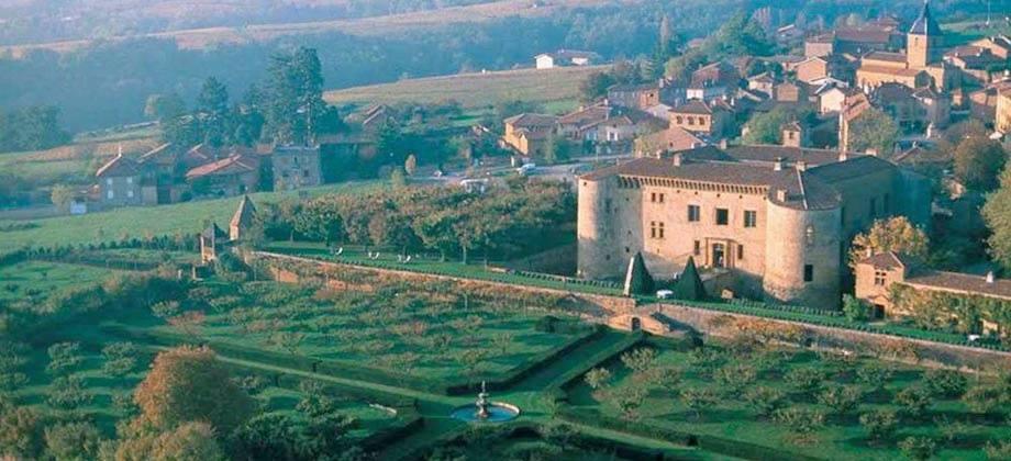 Vue aérielle Château de Bagnols