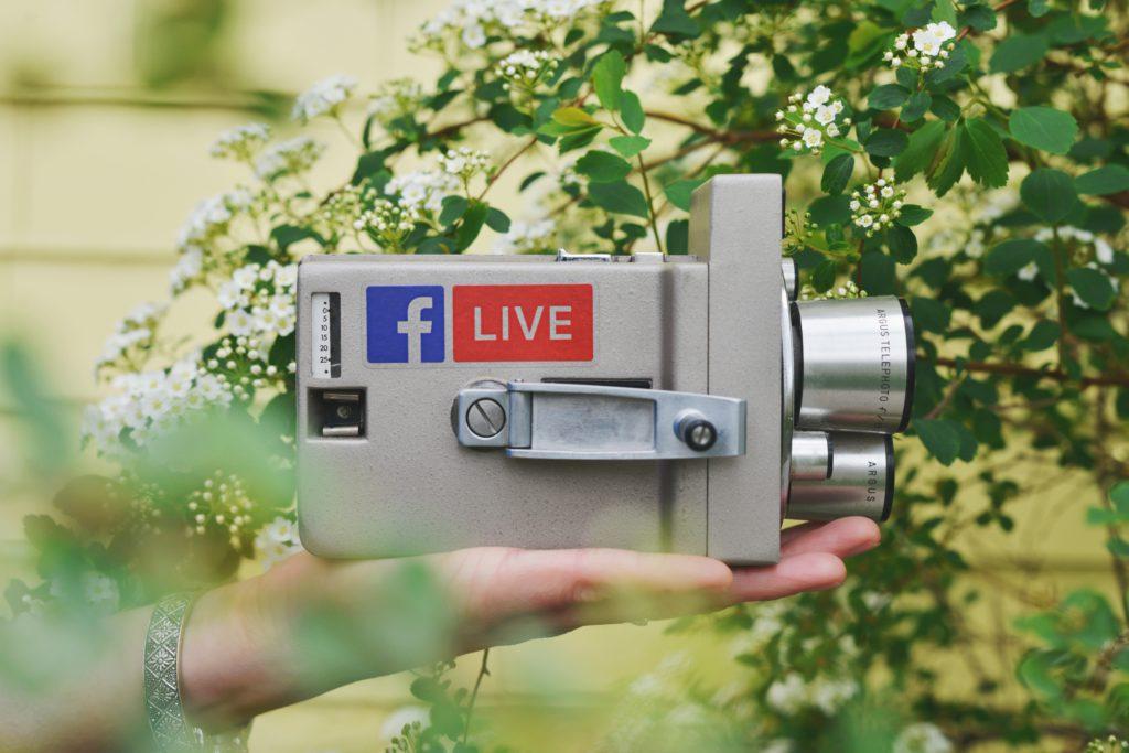 caméra facebook live