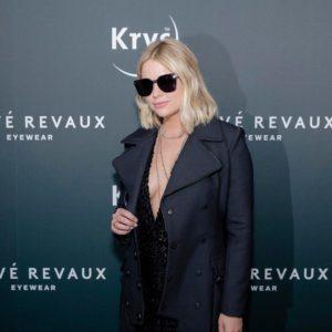 La star américaine Ashley Benson portait le modèle The Madam hier à la soirée de lancement Krys x Privé Révaux