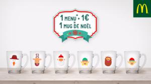 Campagne Social Media McDonald's Mugs de Noël